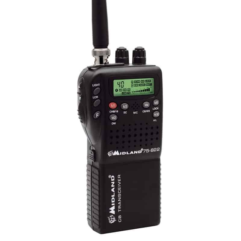 Cobra Handheld CB Radio w Weather Channels - m