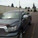 Hood mount installed on a Toyota Tundra