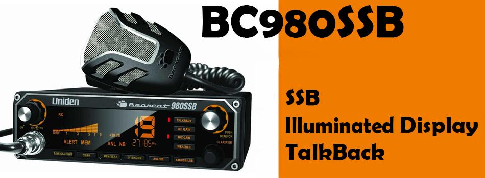 BC980SSB Uniden CB Radio Featuring SSB