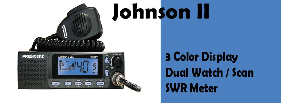 Johnson II President CB Radio