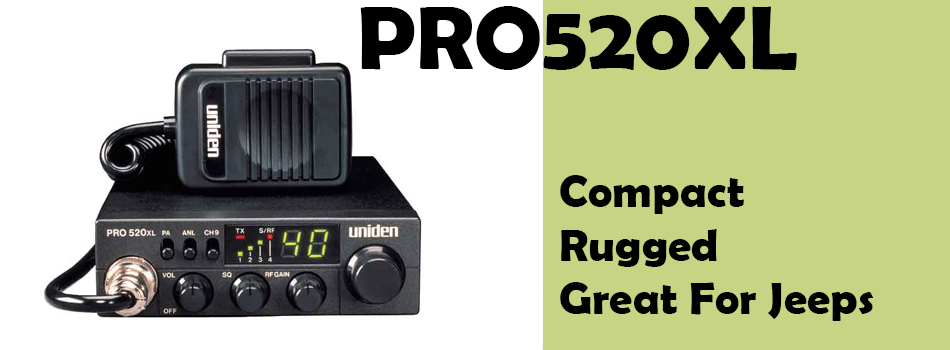 PRO520XL Uniden CB Radio - Great for small vehicles