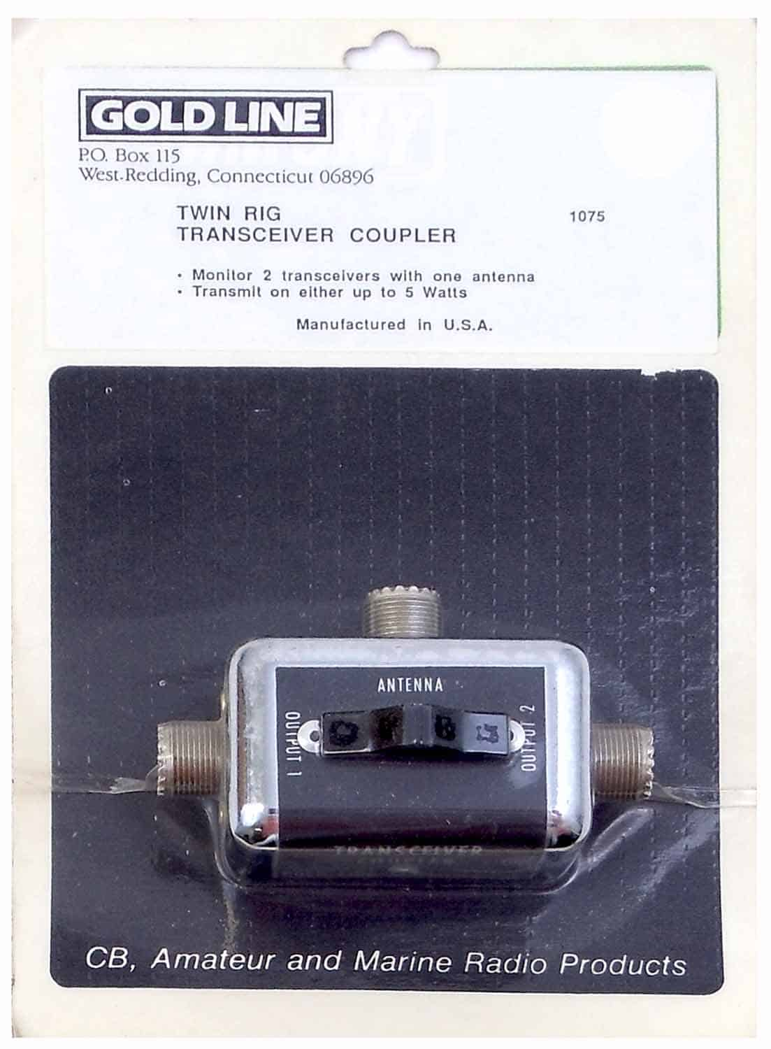 1075 - Goldline Twin Rig Antenna Coupler For 5 Watt Transceivers