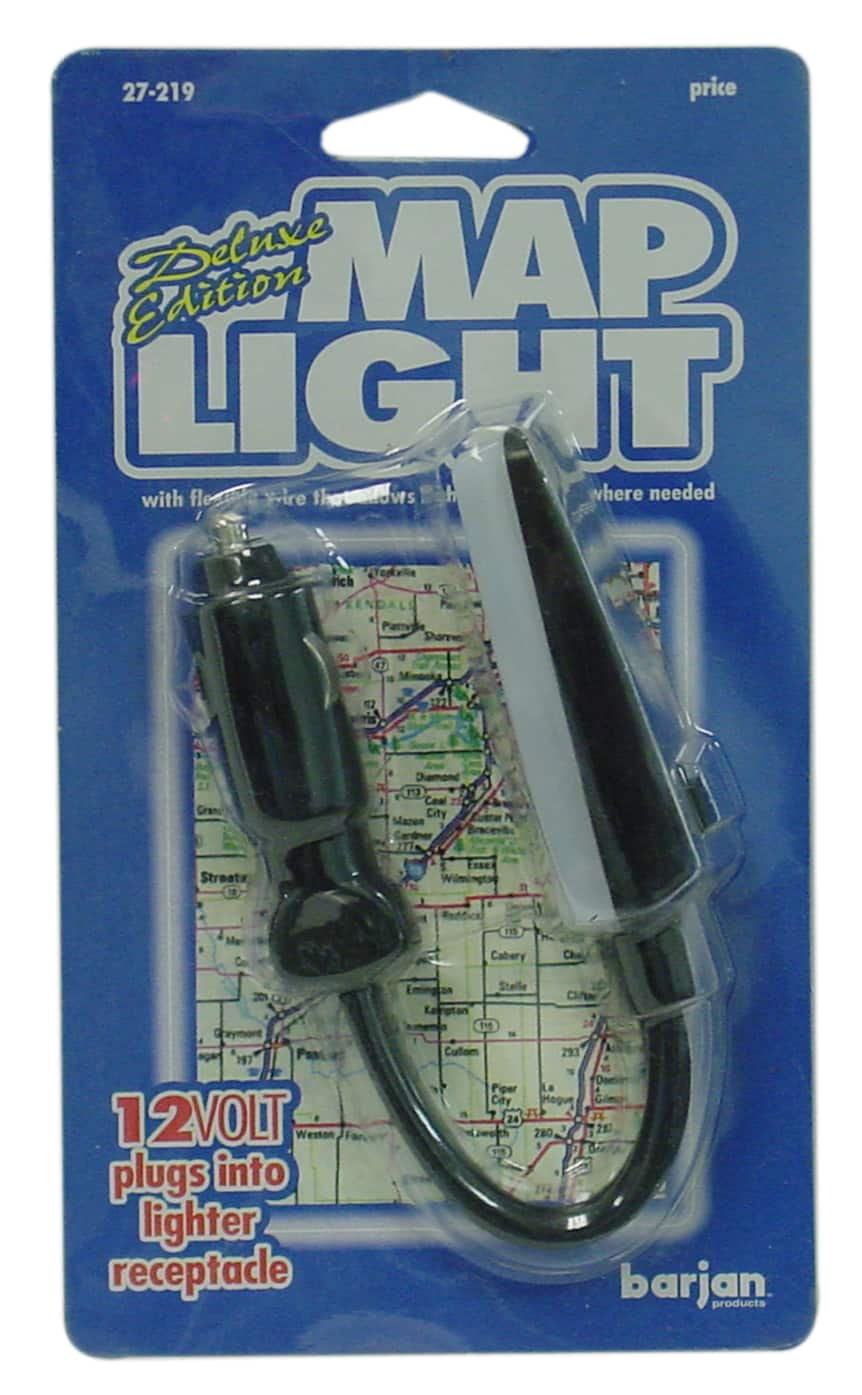 027219 - 12 Volt Luxury Edition Flexible Map Light With Cigarette Plug