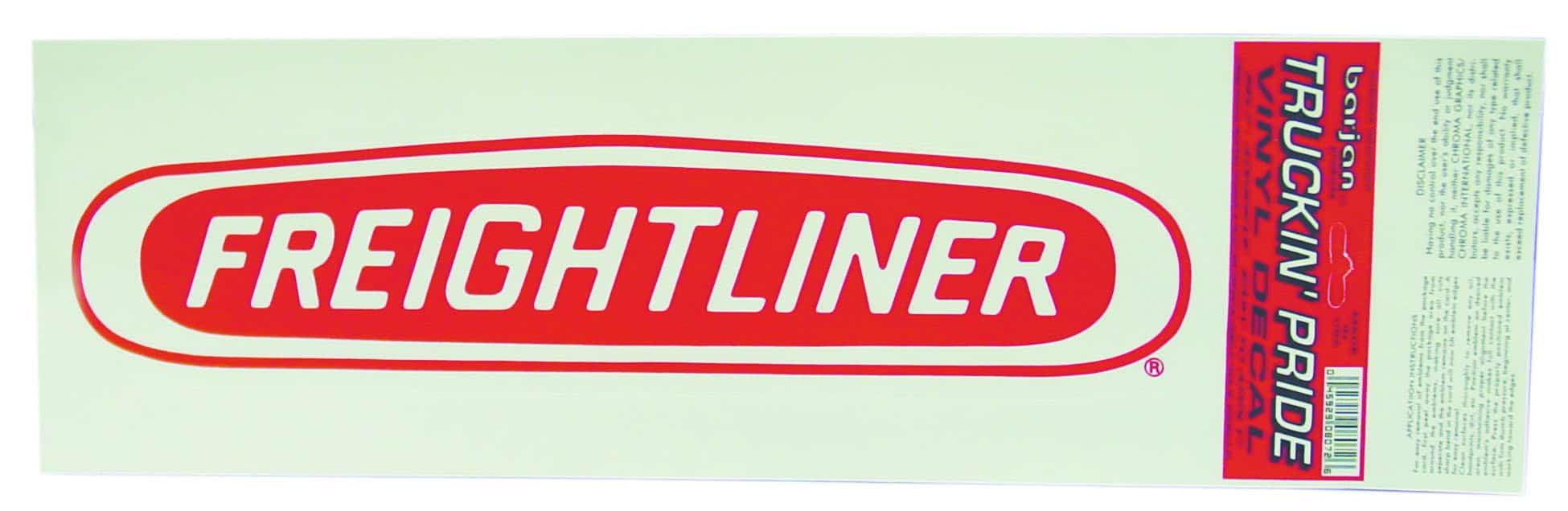 """0458072 - 6"""" X 18"""" Freightliner Vinyl Decal"""