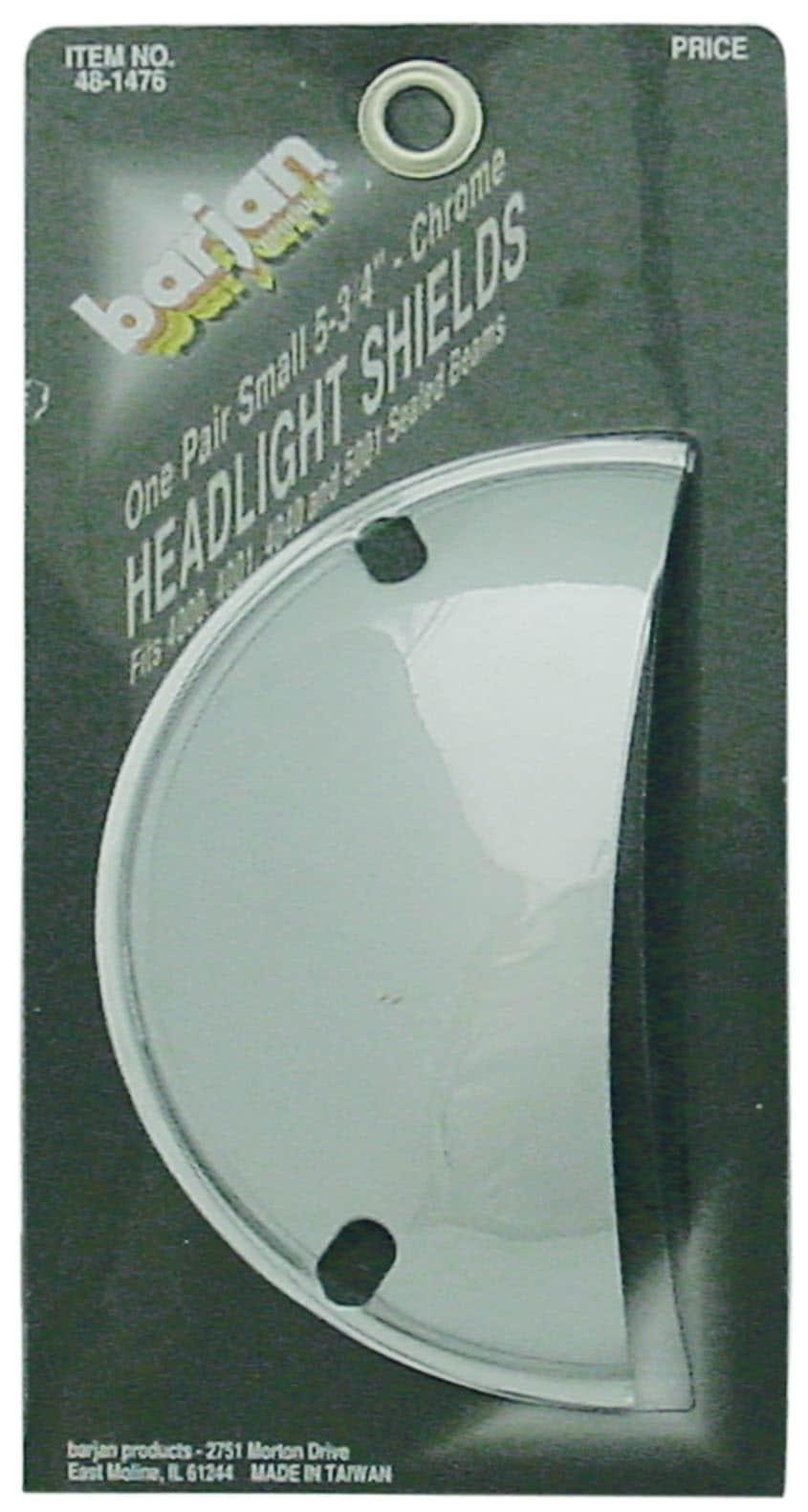 "0481476 - 5-3/4"" Half Moon Chrome Headlight Shields"