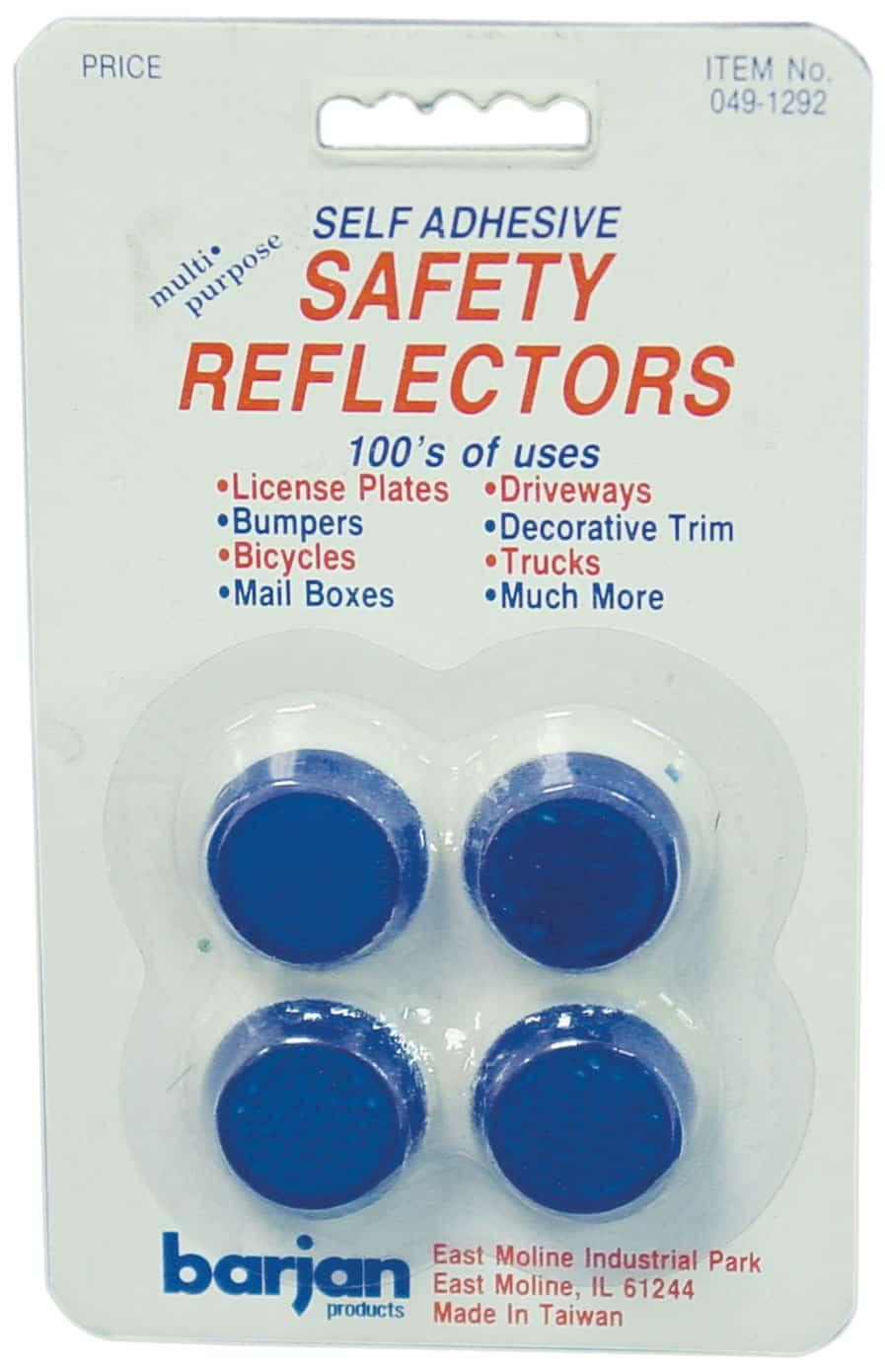 0491292 - Mini Blue Round Safety Reflectors
