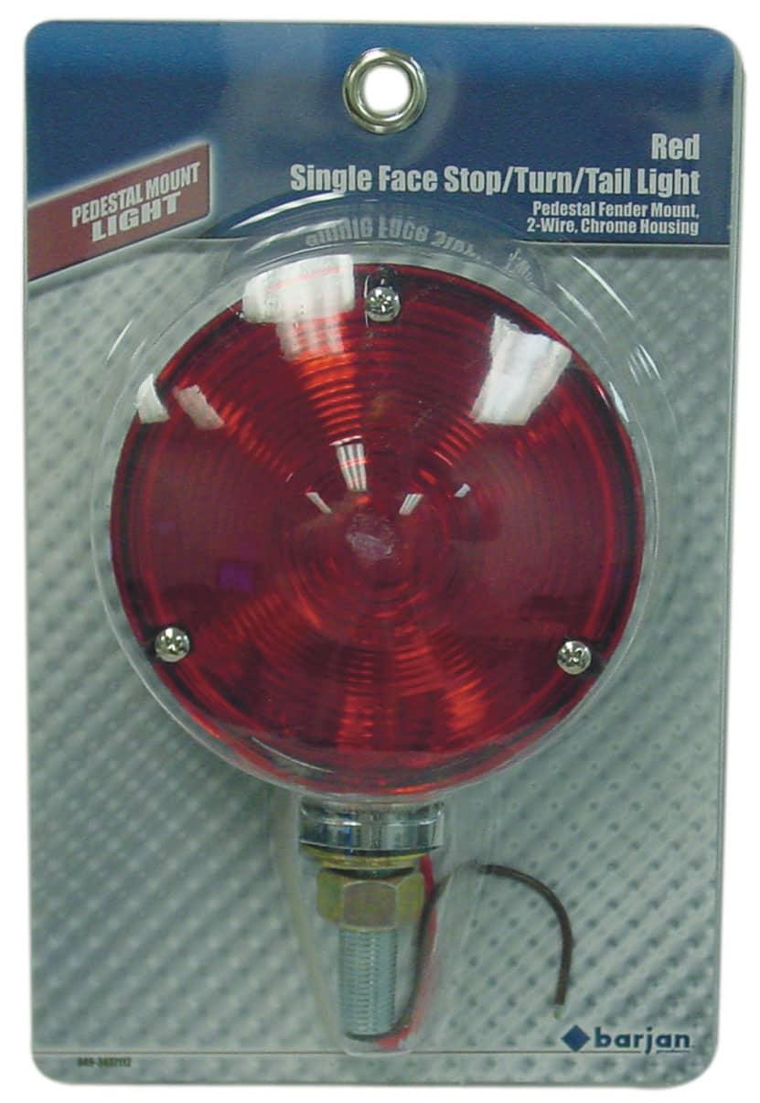 0493437112 - Red Pedestal Fender Mount Tail Light