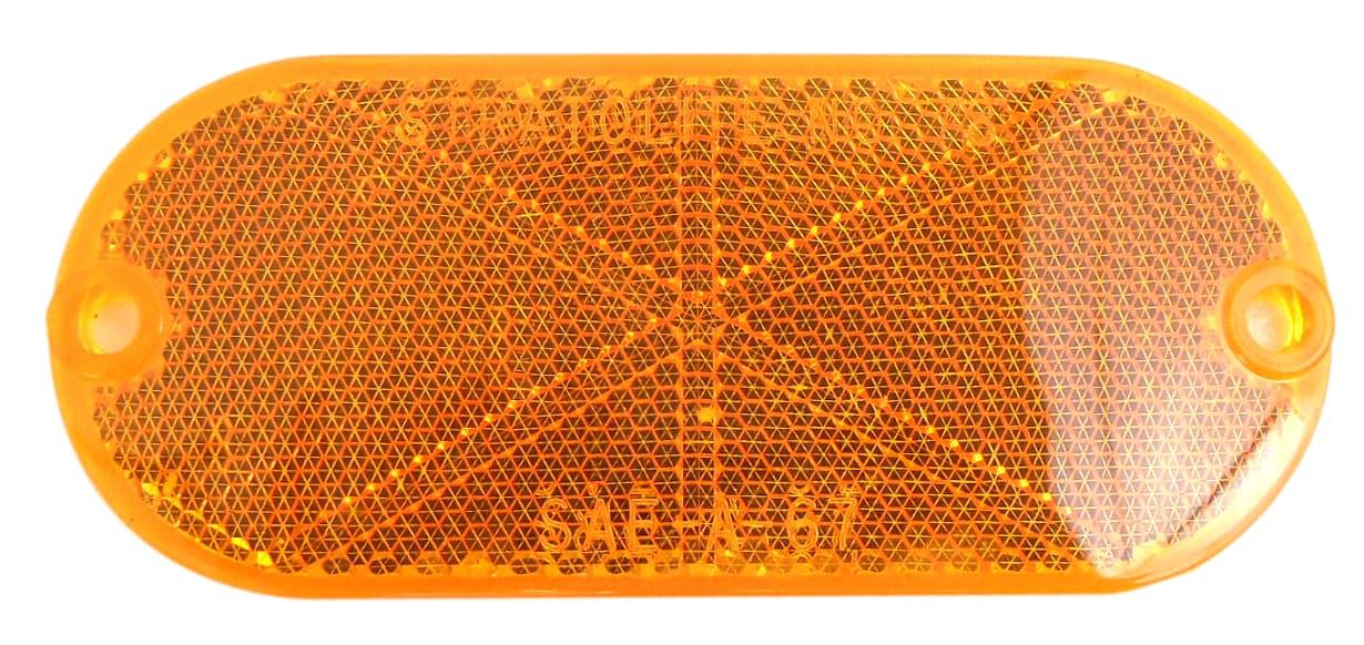"049480A - 4-3/8"" Oval Sae-A-67 Stratolight No. 78 Amber Reflector"