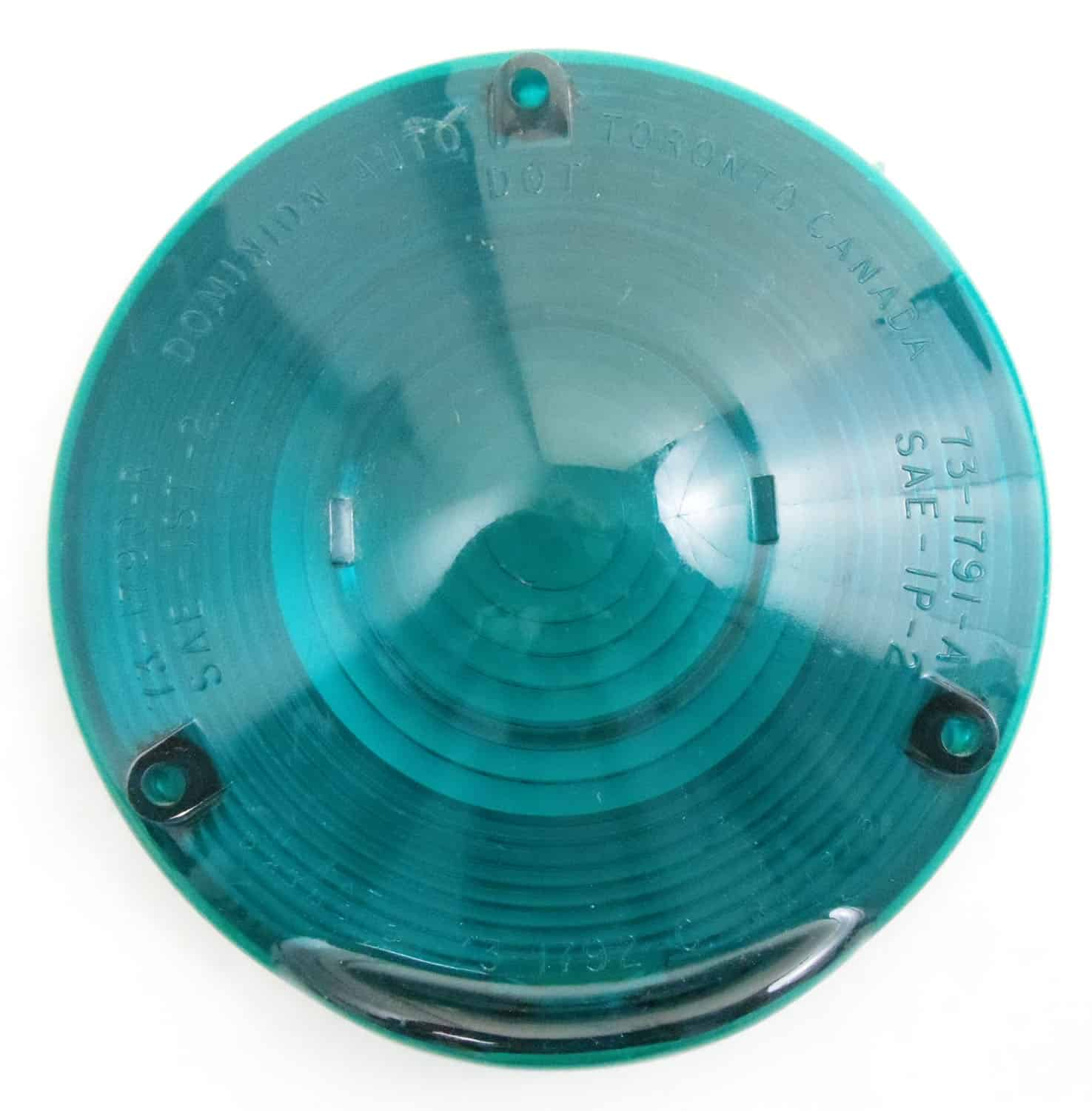 """0499016G - Green 4"""" Round Replacement Lens Cover"""
