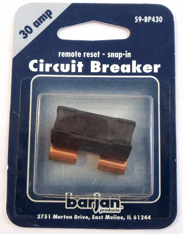 059BP430 - 12 Volt 30 Amp Remote Reset Snap-In Circuit  Breaker