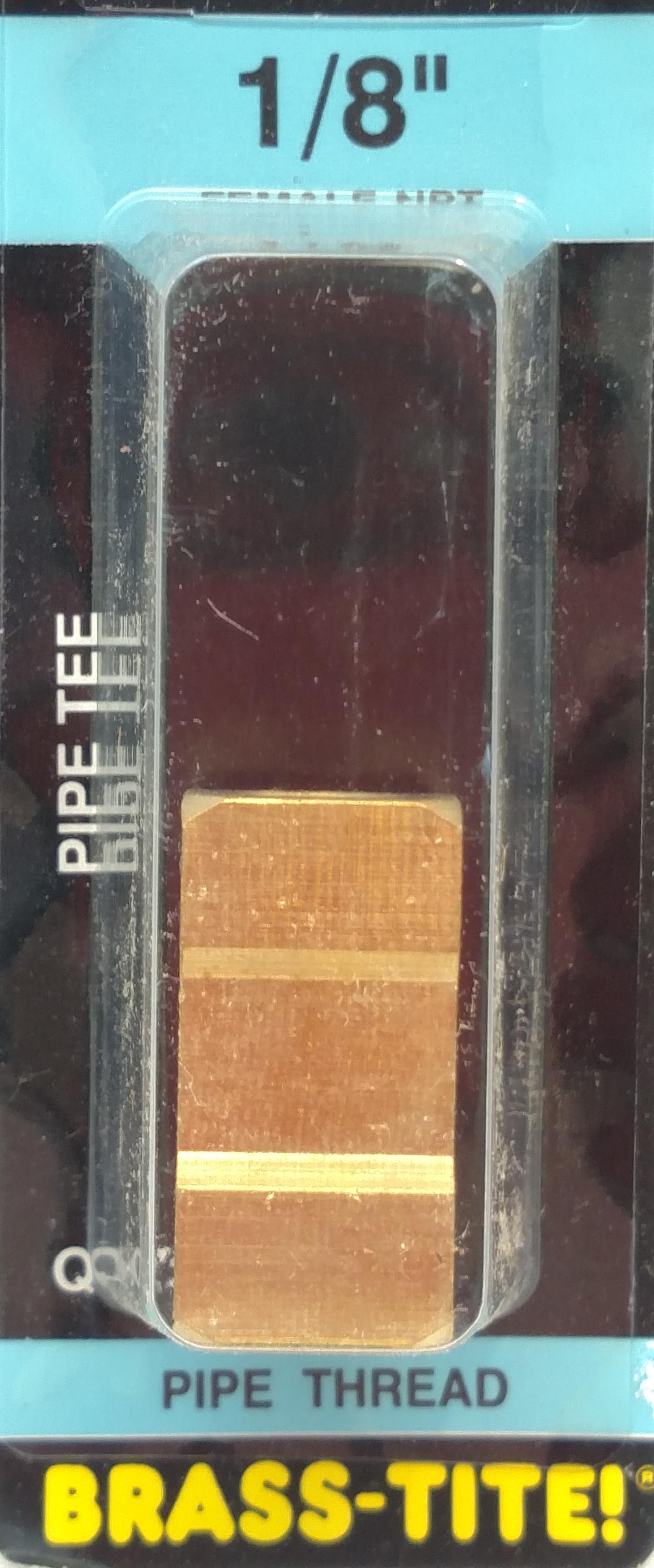 "07443025 - 1/8"" Pipe Tee (Brass)"