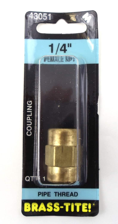 """07443051 - 1/4"""" Female Npt Brass Coupling"""