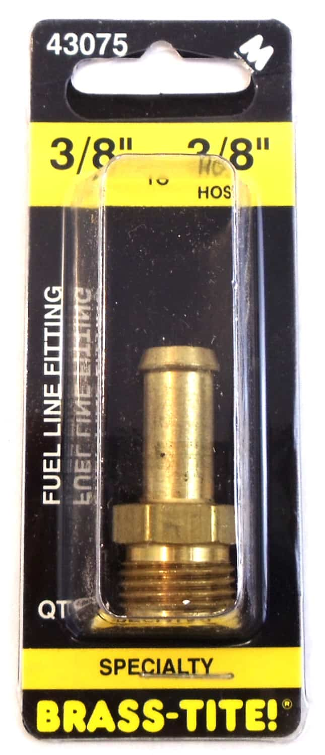 """07443075 - Brass-Tite 3/8"""" If To 3/8"""" Hose Brass Fuel Line Fitting"""