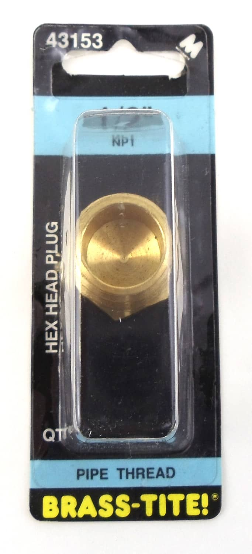 "07443153 - 1/2"" Hex Head Plug (Brass)"