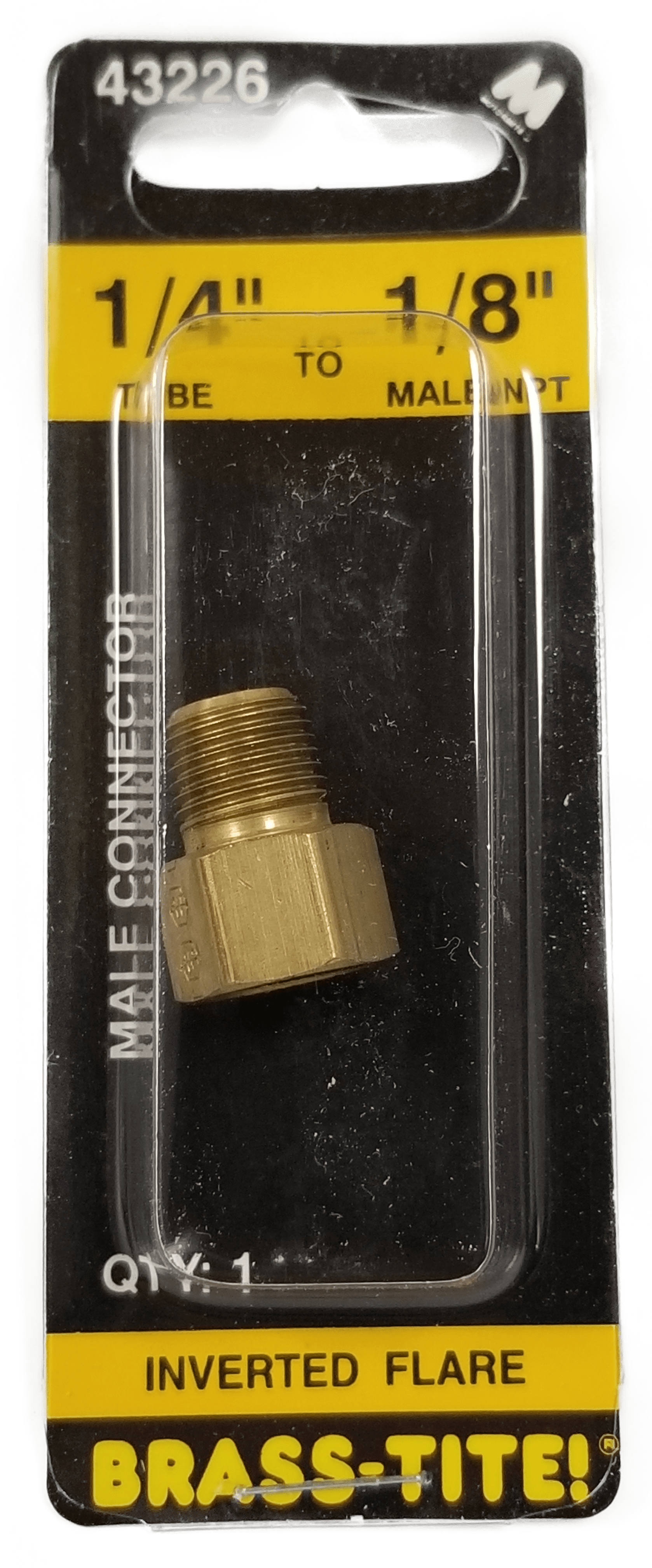 "07443226 - 1/4"" To 1/8"" Inverted Flare Connector (Brass)"