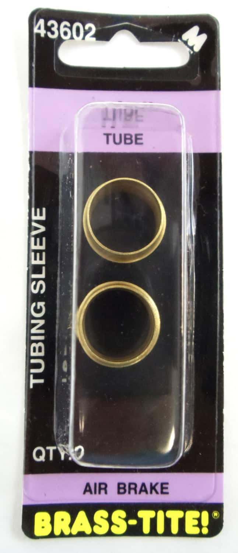 "07443602 - Brass-Tite Air Brake Brass 1/2"" Tubing Sleeves - 2 Pack"