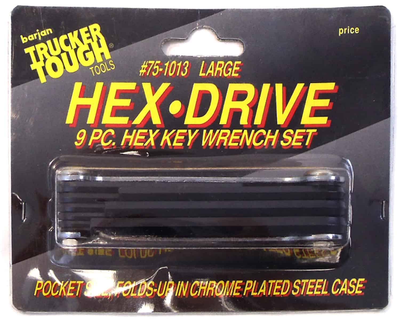0751013 - 9 Piece Folding Hex Key Wrench Set