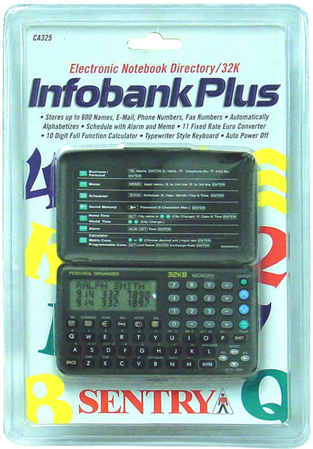 117325 - Sentry - Infobank Plus 32K Electronic Notebook