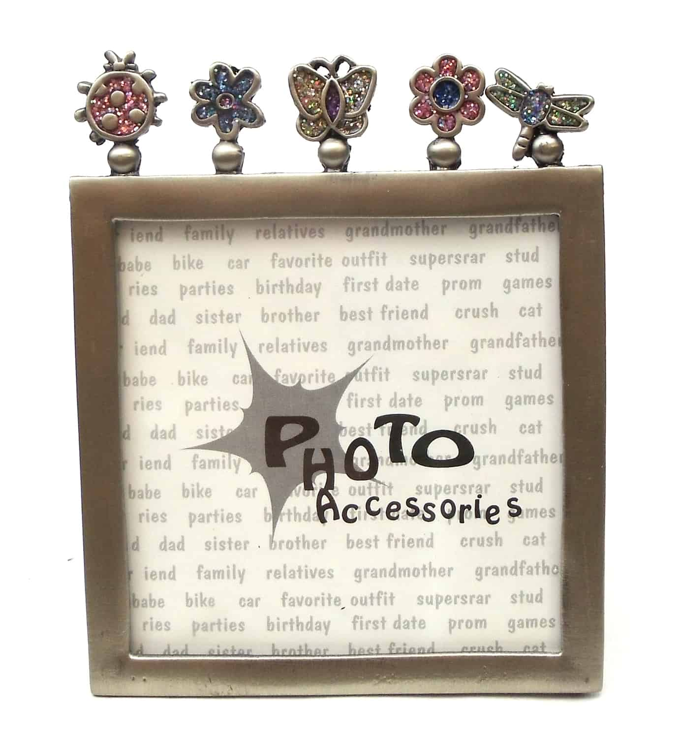 """12560133B - Bugs And Plants Die Cut 4"""" x 5"""" Picture Frame"""