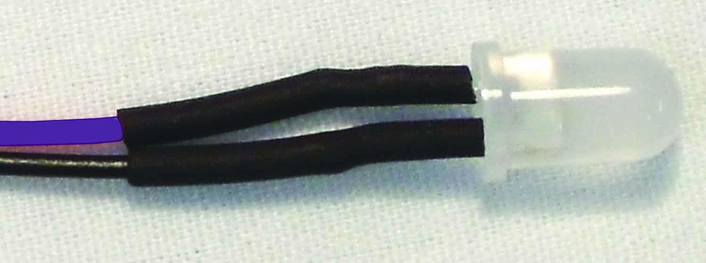 "12VLED-3-P - EKL 10Pk. 3mm 12 Volt Led W/10"" Leads (Purple)"