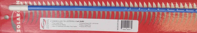 "204-BL - Antron 48"" Top Loaded Fiberglass CB Antenna (Blue)"