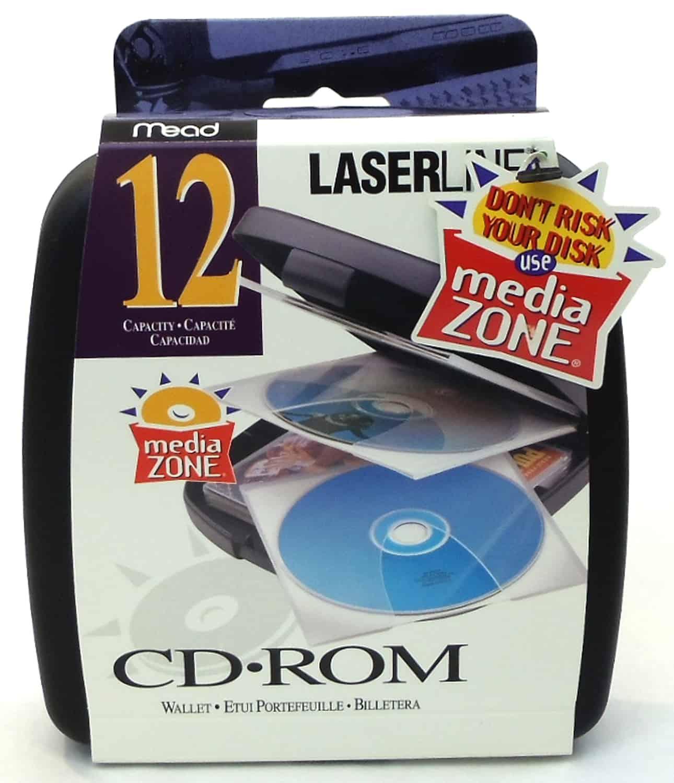29538321 - Laserline 12 CD or DVD Capacity Hard Side Plastic Card Wallet