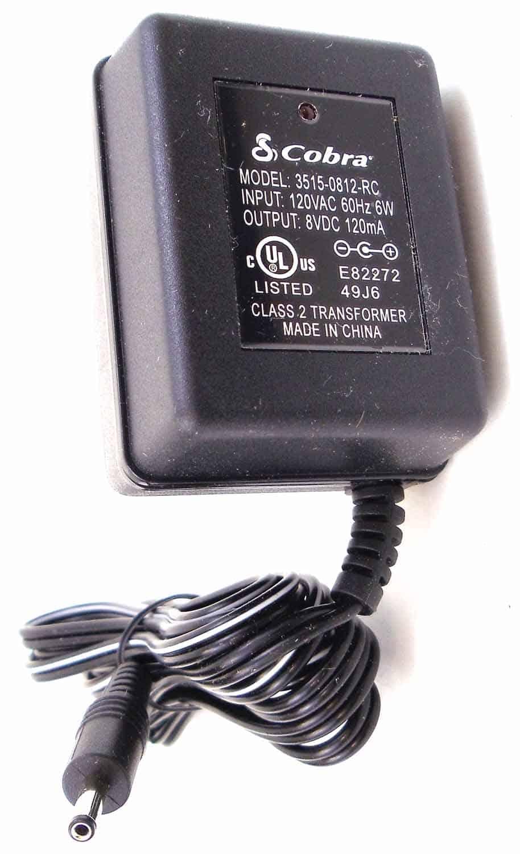 35150812RC - Cobra® AC Wall Charger For Cobra® PR900 Radio - 120V 60Hz 6W Input