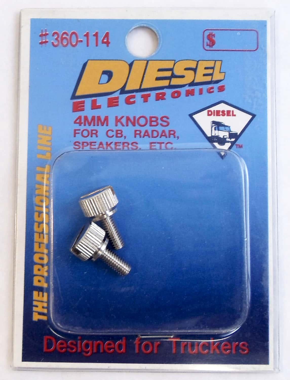 360114 - Diesel Universal 4mm Metal Replacement Side Knob Pair