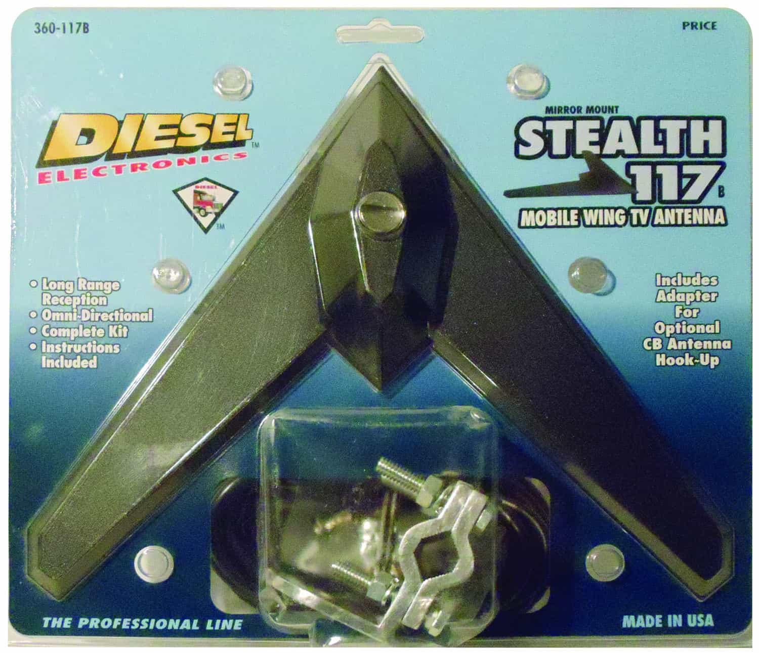 360117MB - Diesel Stealth 117 Mobile Wing TV Antenna