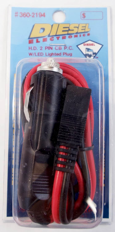 3602194 - 5' 16 Gauge Heavy Duty 2 Pin Power Cord