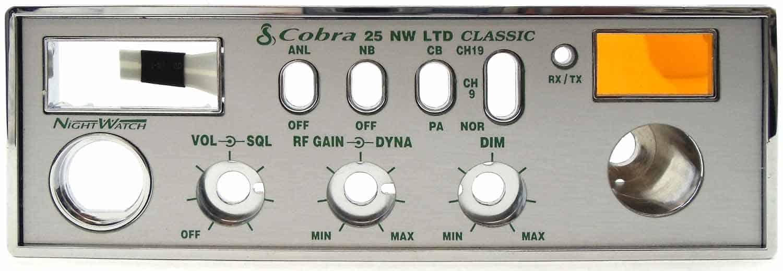380-050 - Cobra® Replacement Faceplate & Bezel For C25Nwltd Radio
