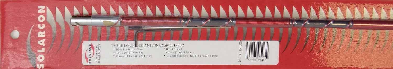 "3LT48-B - Antron 50"" 1000 Watt Cb Antenna W/Three Coils (Black)"