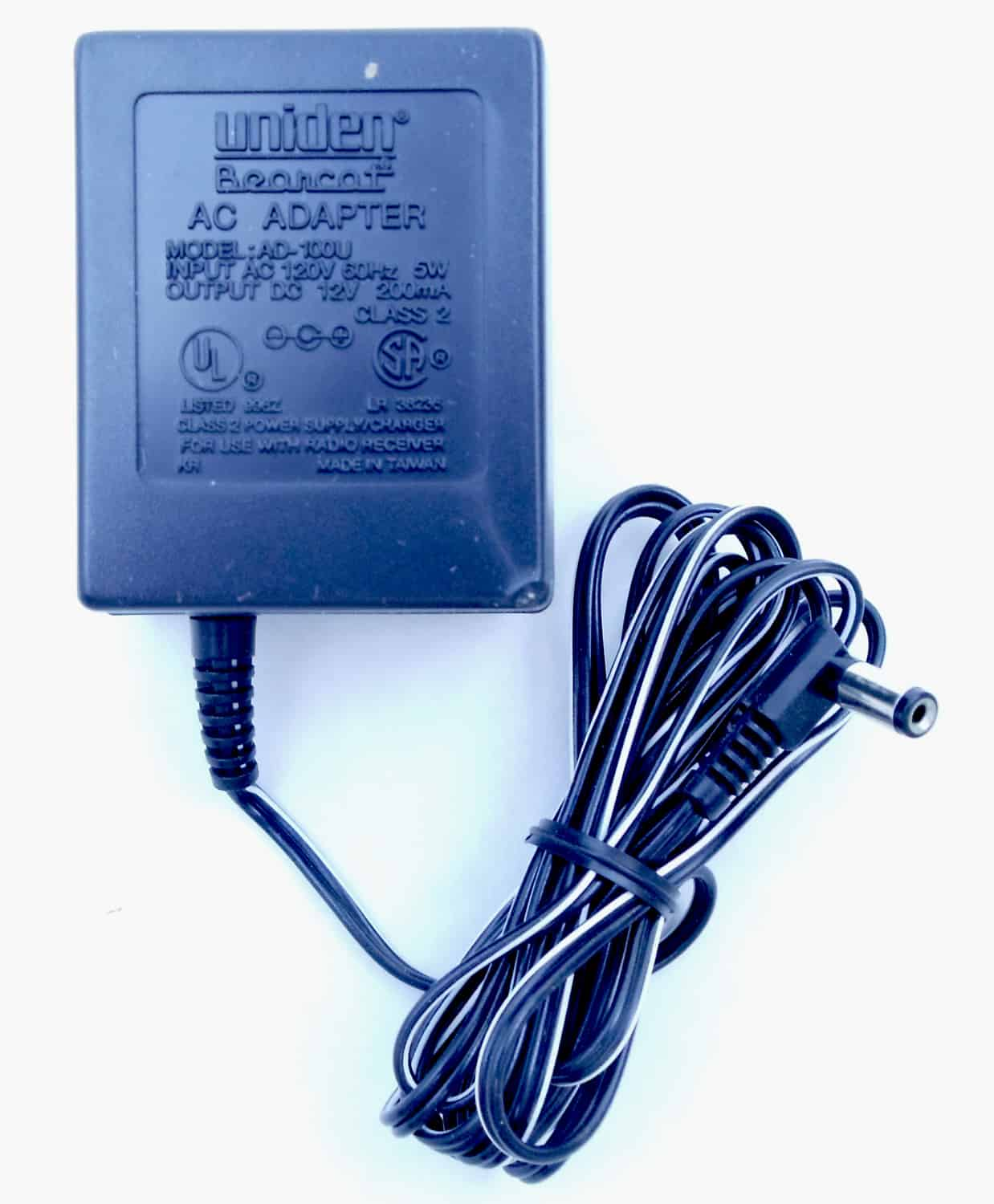 AD100U - Uniden Part AD-100U AC Adapter For Bc50Xl & Bc55Xl