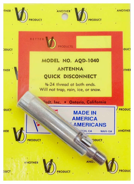 "AQD1040 - Van Ordt Heavy Duty 3/8""X24 Antenna Quick Disconnect"