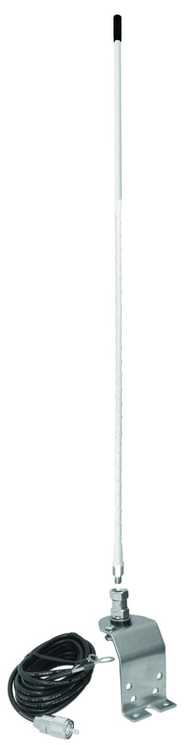 AU420-W - Accessories Unlimited Fender/Groove Mount 4' White Flexible Antenna Kit