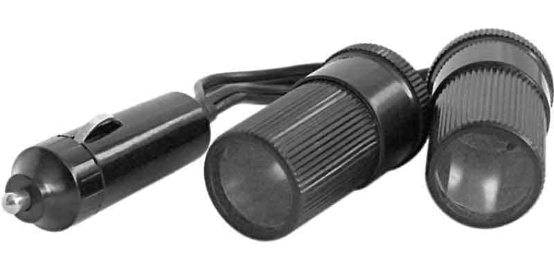 AUCB58 - Accessories Unlimited Dual Socket Cigarette Plug Adapter