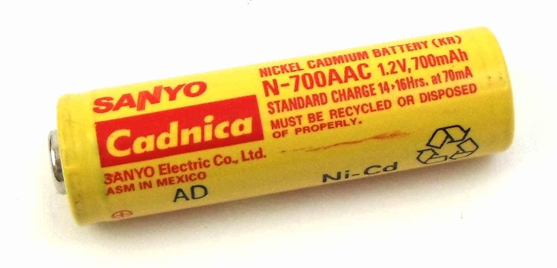 BAT35 - Cobra® Sanyo 700Mah Nickel Cadmium Rechargeable AA Battery
