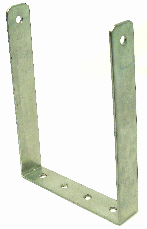"BB29 - 7-3/8"" Wide 7-1/2"" Deep Stainless Steel Single Hole Bracket for C29LTD Radio"