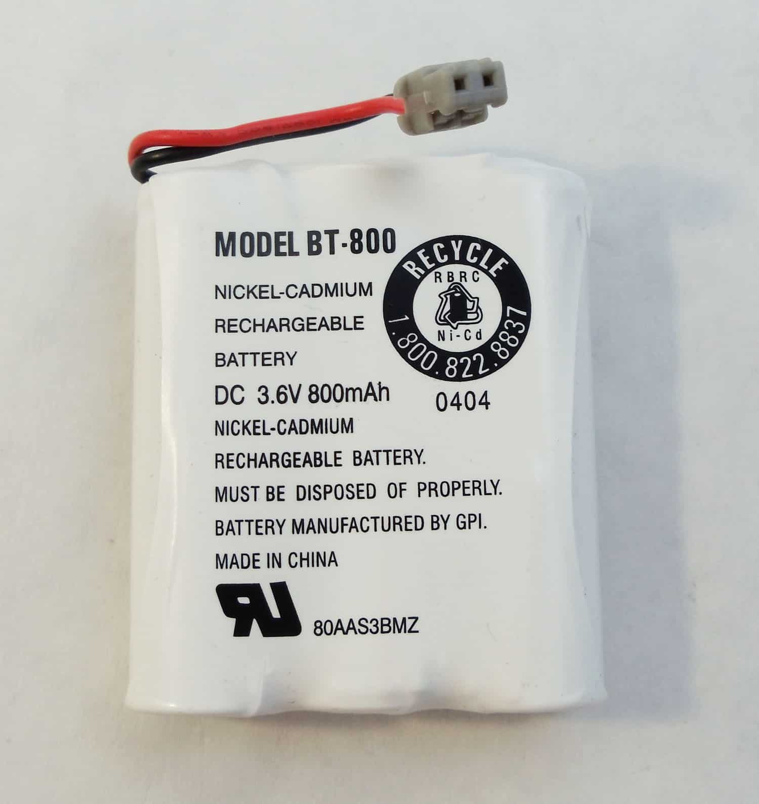 BT800 - Uniden Nickel Hydride Replacement Battery For Dxt736