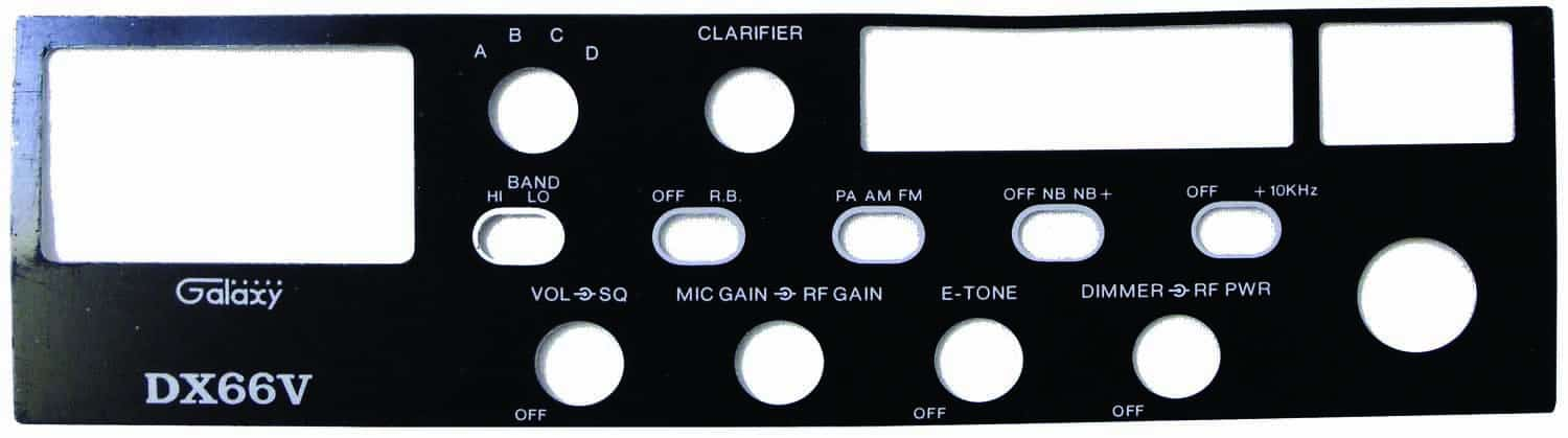 FPDX66V - Galaxy Replacement Faceplate For The Dx66V