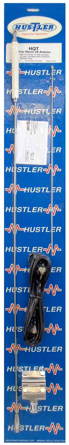 HQT - Hustler Single Mirror Mount Cb Antenna Kit