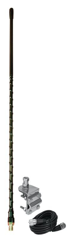HSS995-4B - ProComm 4' Single Black  Mirror Mount Kit W/ 12' Coax