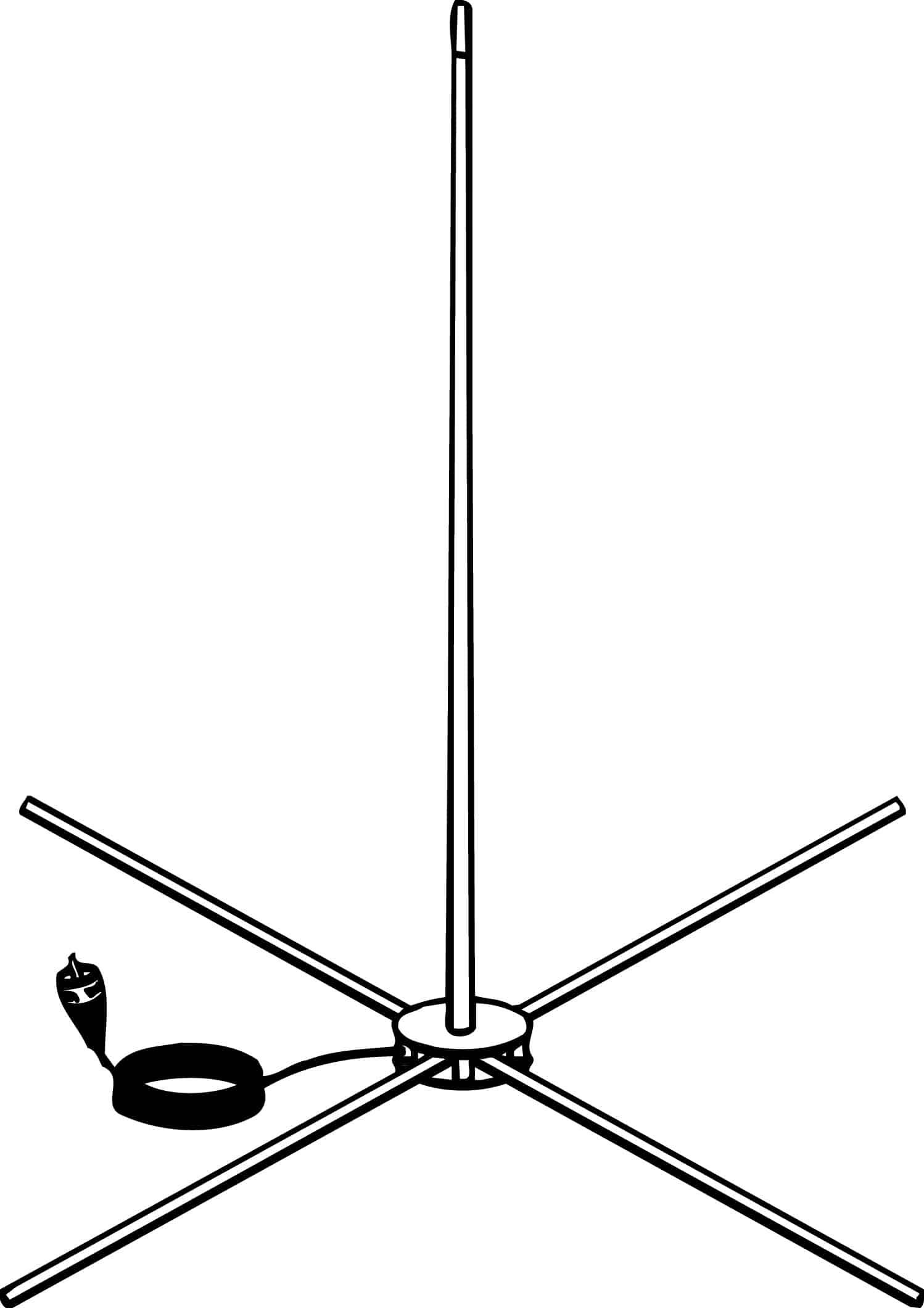 IBA5 - Firestik 60 Inch Indoor Cb Base Antenna