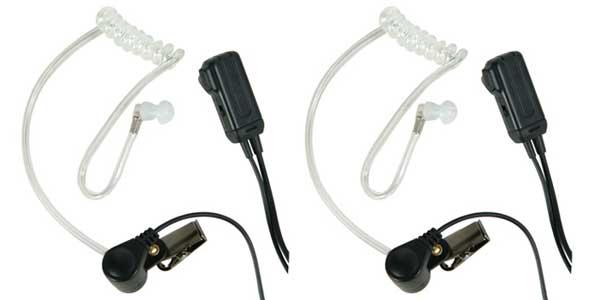 AVPH3-CL - Midland In Ear Speaker/VOX/PTT/Dual Pin Clear Tubing