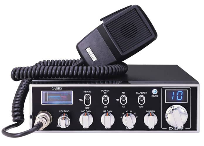 DX29HP - Galaxy 45 Watt 6 Band 10 Meter Mobile Radio