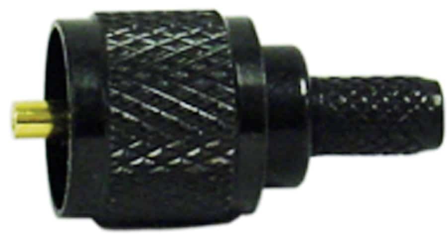 KMPL03B - Kalibur Black Mini Uhf Male Crimp Connector (RG58U)