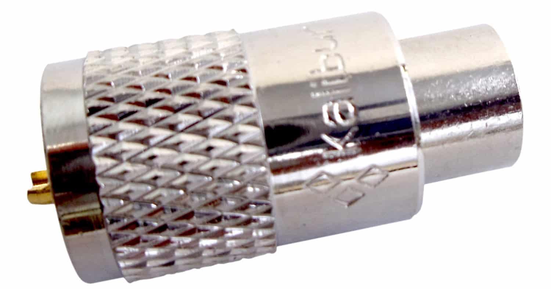 KPL259TX - Kalibur Teflon PL259 With Gold Center Pin (Bulk)