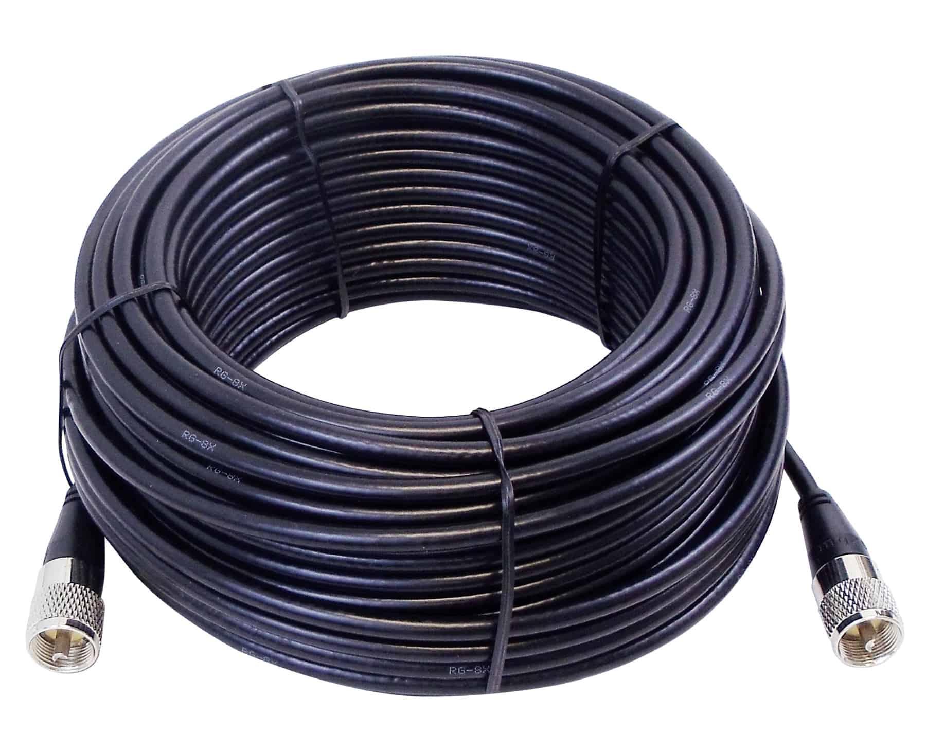 KPP8X75-B - Kalibur 75' RG8X PL259 to PL259 Coax Cable Assembly