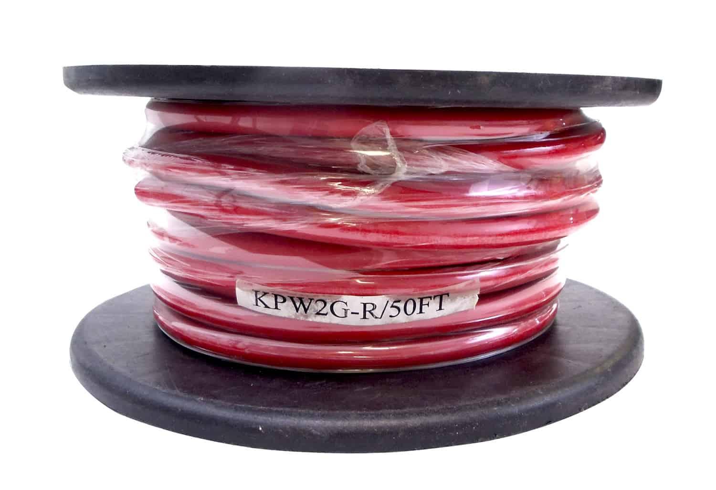 KPW2G-R - Kalibur 50 Foot Roll Of 2 Gauge Red Power Wire