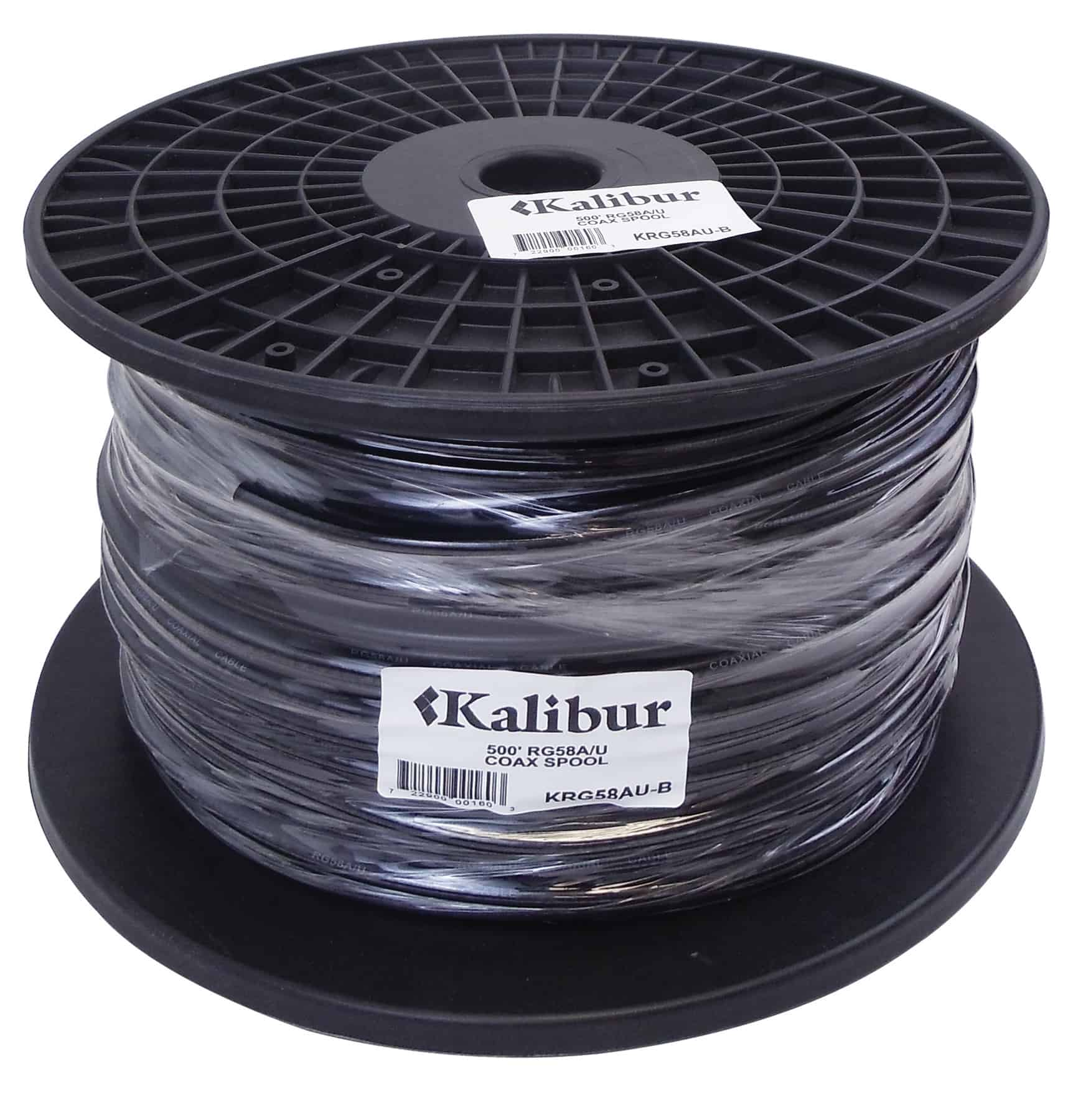 KRG58AU-B - Kalibur 500' Spool Of RG58A/U Coax Cable